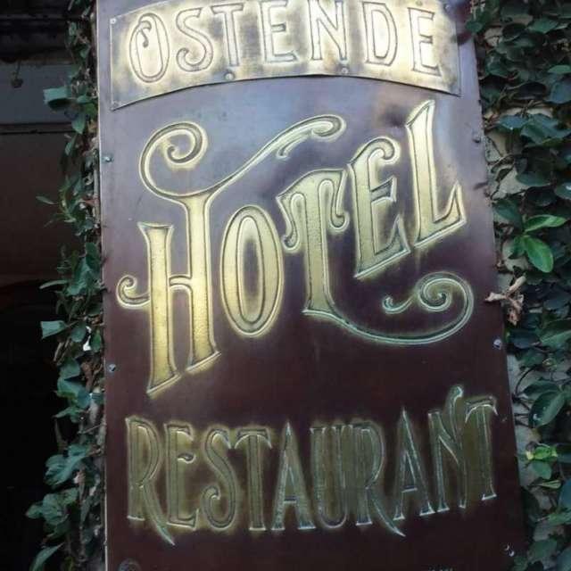 Viejo hotel Ostende placa